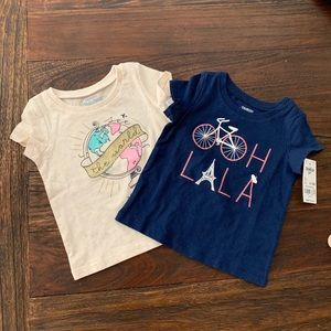 Two Oshkosh T-shirt 9-12 months